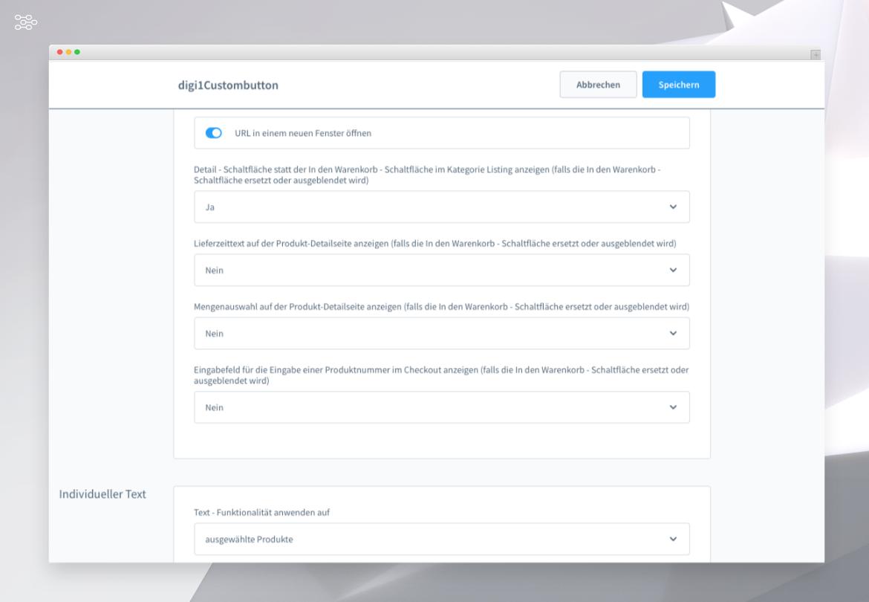 Individuelle Schaltfläche und individueller Text für ein Produkt (auf Anfrage, Urlaubsmeldung, uvm.)